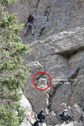 Rock Climbing Photo: loose section to watch out for!