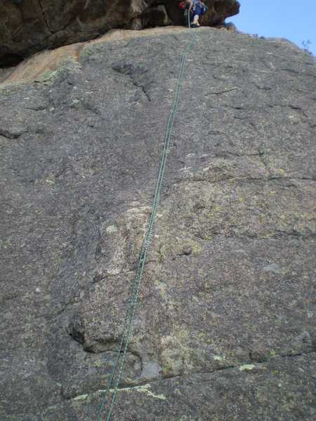 Rock Climbing Photo: Suboptimal photo of P1's slab.