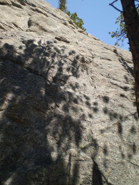 Rock Climbing Photo: Low angled slab of Unknown J.