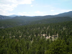 Rock Climbing Photo: View of the Indian Peaks and the second pullout/ca...