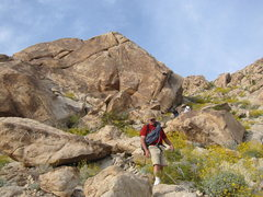 Rock Climbing Photo: Here is one crag with a couple of routes on it. Th...