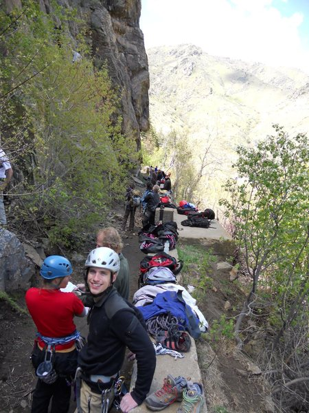Rock Climbing Photo: A busy day at the Canal Zone.