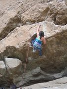 Rock Climbing Photo: Start of Rough Draft 5.11a