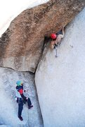 Rock Climbing Photo: After the Crux just having fun on Wonderful World ...