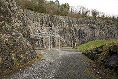 Ballykeeffe Quarry climbing area.