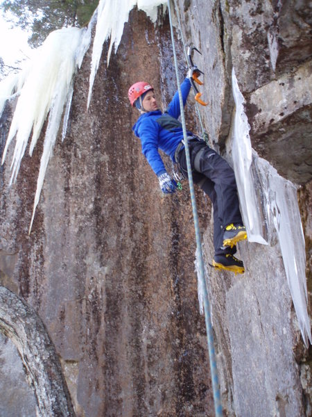 Rock Climbing Photo: mike on the m7