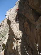 Rock Climbing Photo: Andrus rappelling Iron Worker. We left a sling/rin...