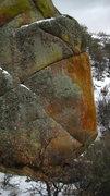 Rock Climbing Photo: Monsieur Pain climbs through the left trending sea...