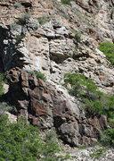 Rock Climbing Photo: The Wasp after the rockfall (30 May 2010).
