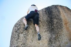 Rock Climbing Photo: Delicate mantels at the top of The Wave of Hope, V...