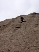Rock Climbing Photo: Aaron M. on the first pitch, cruising up the finge...