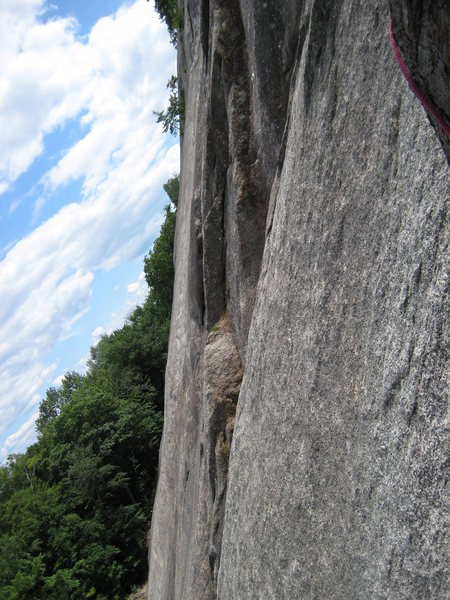 Rock Climbing Photo: looking south from Beginners Route.A little artist...