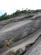 Rock Climbing Photo: Looking up at lunch ledge from the second belay on...