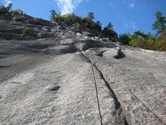 Rock Climbing Photo: Pitch three of BR