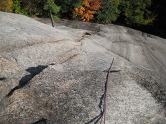 Rock Climbing Photo: Looking down pitch Two of BR