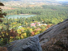Rock Climbing Photo: View from the third belay station on  BR-Easy