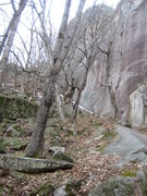 Rock Climbing Photo: The way to the Thin Air face