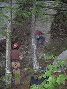 Rock Climbing Photo: Chris on Silver Dollar