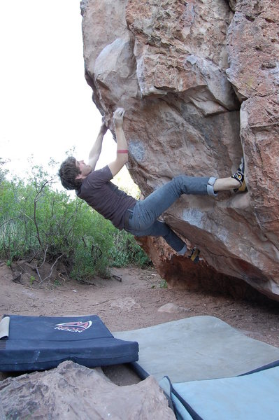 Rock Climbing Photo: Jables repeating the slapper twice.