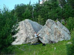 Rock Climbing Photo: Matt beaching the whale in 90 degree temps.