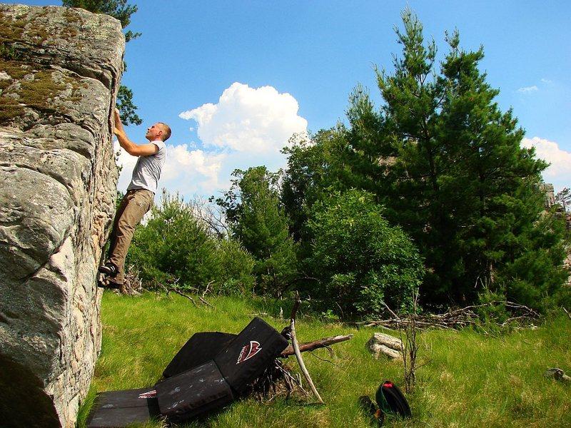 Rock Climbing Photo: Matt warming up on #3.