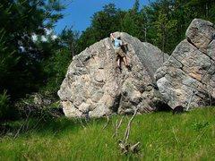 Rock Climbing Photo: Warmup #2, fun line.