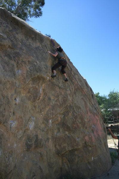 Dina's first time climbing 5-29-10