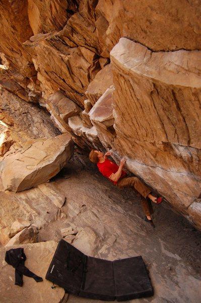 Rock Climbing Photo: Air Jordan, V5 at Morrison, CO
