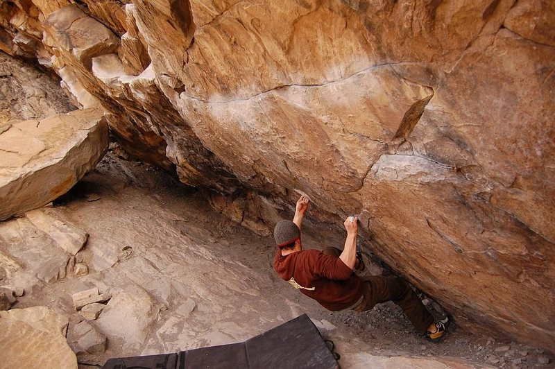 Rock Climbing Photo: Tom Scupp on Air Jordan, V5, Morrison, CO