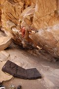 Rock Climbing Photo: Tom Scupp on Air Jordan, V5, Morrison, CO,photo nu...