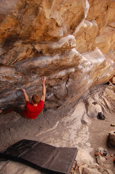 Rock Climbing Photo: Cytogrinder, V8, Morrison CO Photo 8