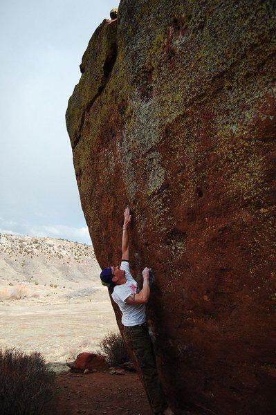 Rock Climbing Photo: Jared LaVacque on Ghost Dance V7,  Matthew Winters...