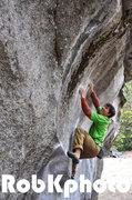 "Rock Climbing Photo: Brad on ""After Midnight""."