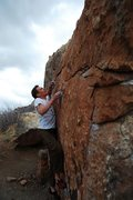 Rock Climbing Photo: Jared LaVacque warming up on My Two Cents, V2, Rot...