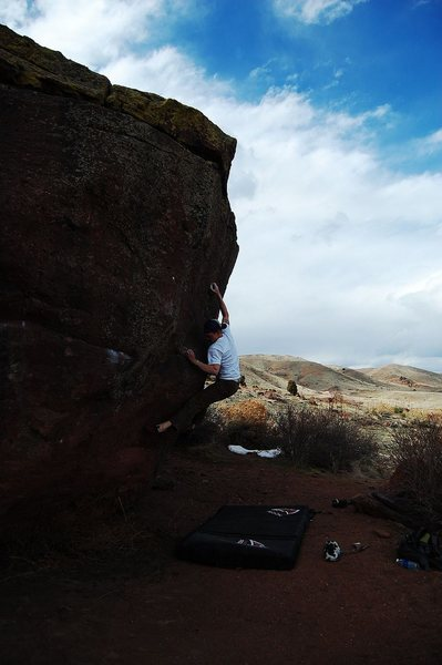 Rock Climbing Photo: Jared LaVacque,The Prow Problem V6, Matthew Winter...
