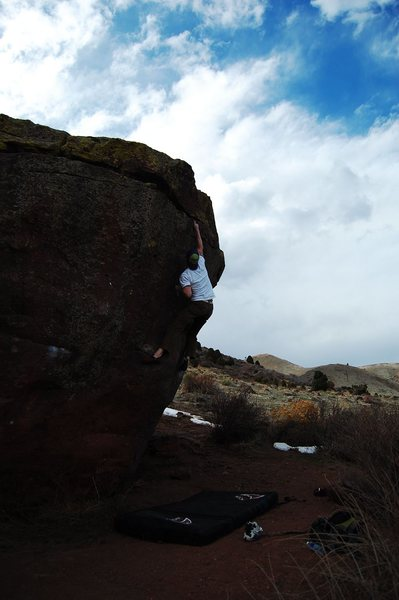 Rock Climbing Photo: Topping out on The Prow Problem, V6 Matthew Winter...