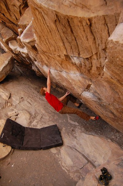 Rock Climbing Photo: Jared LaVacque on Air Jordan, in the Black Hole at...