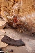 Rock Climbing Photo: Tom Scupp sticking the sloper on Air Jordan.
