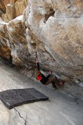 Rock Climbing Photo: Jared LaVacque enjoying a frigid morning on Cytogr...