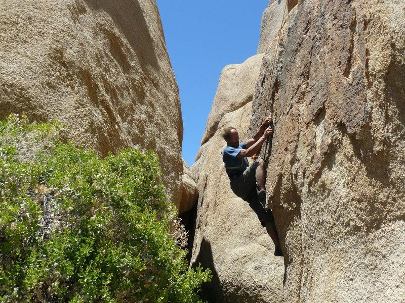 Rock Climbing Photo: T.T on E.D.F.