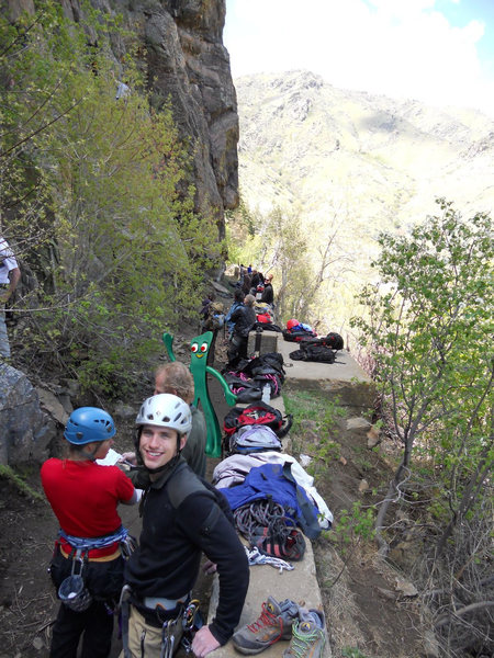 Rock Climbing Photo: Busy day at the C anal Zone photo by Kevin Presley...