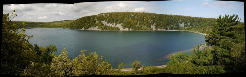 Panoramic from the East Bluff trail and overlooks.
