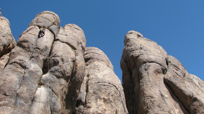 Rock Climbing Photo: Tower of Power;  This climb is 5 Barmaids in my Po...