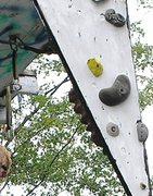 Rock Climbing Photo: free hanging fang feature