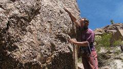 Rock Climbing Photo: Tucker Tech on the knobs of Holly Hipkiss.