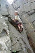 Rock Climbing Photo: Ethan making progress on Dihedral (5.3)
