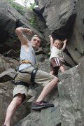 Rock Climbing Photo: Me and My Protege'