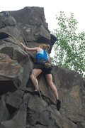 Rock Climbing Photo: My wife on Noah's Ark (5.6)