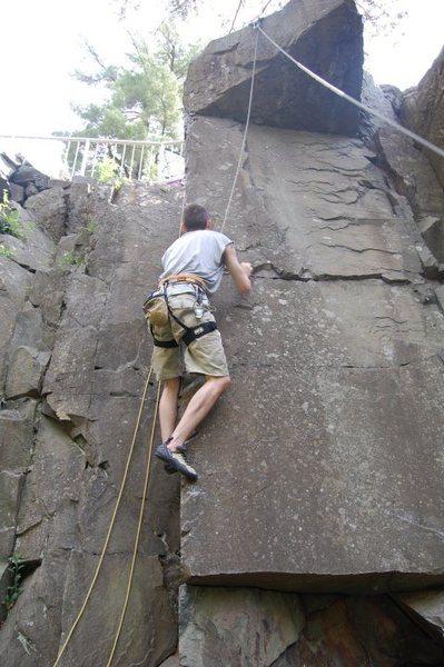 Rock Climbing Photo: Josh on The Overhang (5.6)