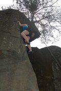 Rock Climbing Photo: Side view of The Overhang (5.6)
